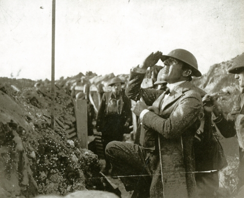 DW Griffith on the front lines in France.