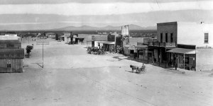 Sleepy Columbus, New Mexico 1916